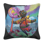 Pyro Water Color Fantasy White Pillow Case